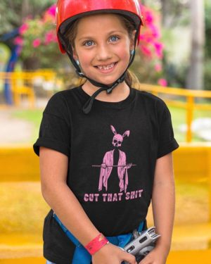 Cut That Shit Pure Cotton Tshirt for Children Black