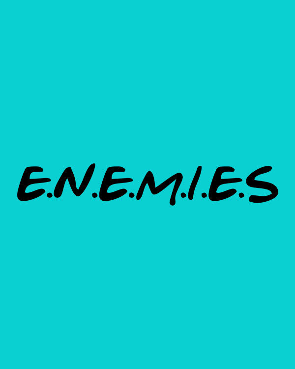 Enemies Sky Blue Cotton Tshirt for Women