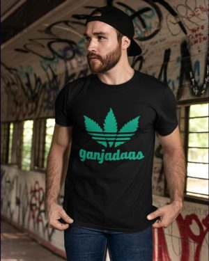 Ganjadaas Black Cotton Tshirt for Men