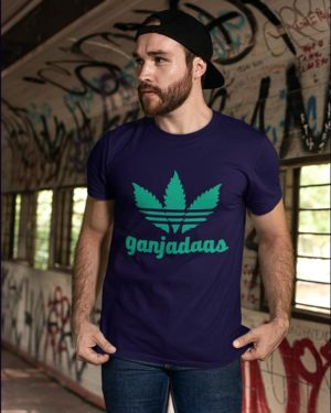 Ganjadaas Navy Blue Cotton Tshirt for Men
