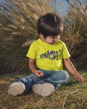 Ouch Pure Cotton Tshirt for Children Yellow