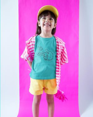 Pew Pew Pure Cotton Tshirt for Children Sky Blue