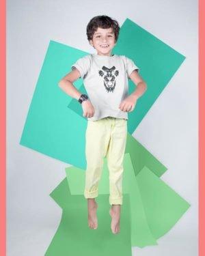 Roaring Lion Cotton Tshirt for Children White