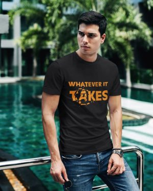 Whatever It Takes (Avengers End Game) Black Pure Cotton Tshirt for Men