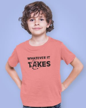 Whatever It Takes Pure Cotton Tshirt for Children Pink