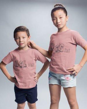 Big Sis Lil Bro Pure Cotton Tshirt for Siblings Pink