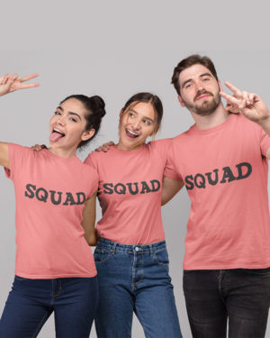 Squad Pure Cotton Tshirt for Groups Pink