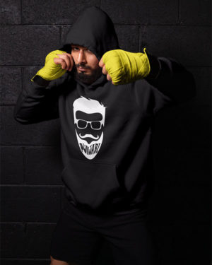 Punjabi Beard Pure Cotton Hoodie for Regional Men Black
