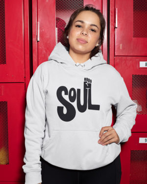 Soul Funky Pure Cotton Hoodie for Women White