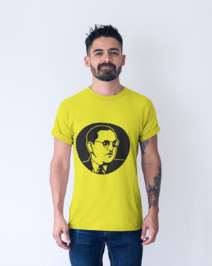 Baba Saheb Ambedkar Pure Cotton Tshirt For Men Yellow