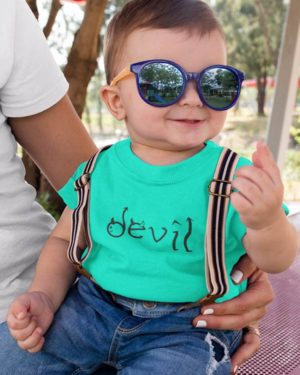 Devil Pure Cotton Tshirt For Toddlers Green