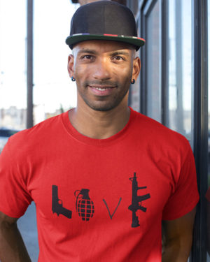 Love Animated Pure Cotton Tshirt for Men Red