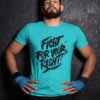Fight For Your Right Pure Cotton Tshirt for Men Sky Blue