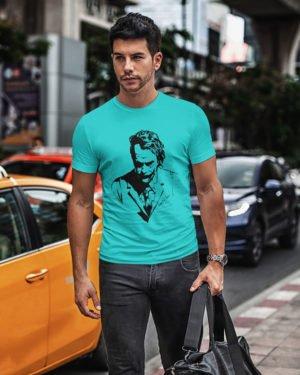 Heath Ledger Pure Cotton Tshirt for Men Sky Blue