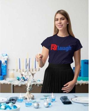 Khilaugh Pure Cotton Tshirt Fow Women Navy Blue