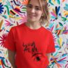 Look At Me Pure Cotton Tshirt For Women Red