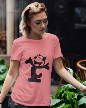 Mouse Animated Pure Cotton Tshirt For Women Pink