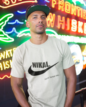 Pehli Fursat Me Nikal Pure Cotton Tshirt for Men White