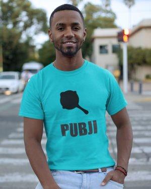 Pubji Gada Pure Cotton Tshirt for Men Sky Blue