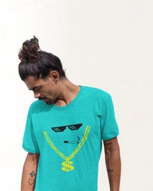 Thug Rich Boy Pure Cotton Tshirt for Men Sky Blue
