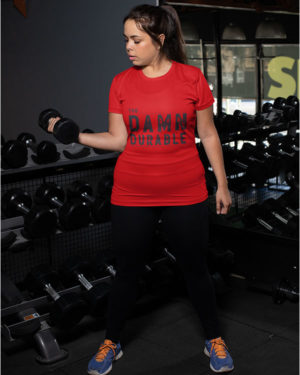 Too Damn Durable Pure Cotton Tshirt for Women Red